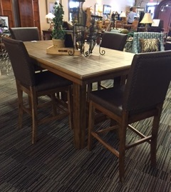 Beautiful Counter Height Dining Table with 6 Chairs and 1 Butterfly ...